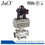 Gesundheitliches Pneumatic Ball Valve mit Actuator