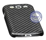 고품질 Samsung 은하 S3를 위한 실제적인 탄소 섬유 이동 전화 상자