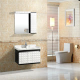 Schokoladen-Farben-Badezimmer-Schrank/einzelner Wanne PVC-Badezimmer-Schrank