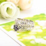 فضة يرصف [أمثست] حجارة [منس] [ودّينغ رينغ] مجموعة تصاميم ([كري0485])