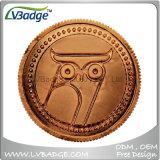 Pièce de monnaie de corporation nickelée antique personnalisée en métal