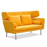 Diseño moderno clásico del estilo de la sala de estar suave sofá de la tela con el metal de la pierna