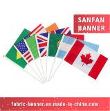 Bandeira por atacado Eco-Friendly da vara do poliéster e bandeira da mão