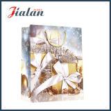 2016 Weihnachtsgeschenk-glatten lamellierten Kunstdruckpapier-Geschenk-Beutel anpassen