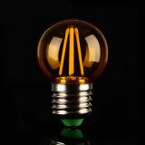 luz bulbosa ligera del filamento de 6W E27 Edison G45 LED
