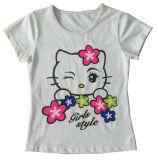 사랑스러운 눈 (SV-022)를 가진 아이들 소녀 t-셔츠에 있는 아름다운 소녀 조끼
