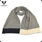 Bufanda del invierno de los hombres del telar jacquar 30%Wool 70%Acrylic de la manera