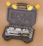 """25PCS mano conjunto de herramientas profesionales Cr-V de acero de 1/2"""" Juego de dados"""
