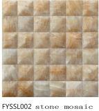 Бежевая мраморный мозаика, Onyx для стены строительного материала дома и плитка пола (FYSSL002)