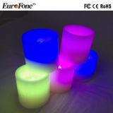 6 luzes da vela da cera de parafina de Multicolors dos tamanhos/jogos para a decoração