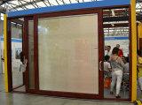Qualitäts-Puder-überzogener thermischer Bruch-Aluminiumprofil-Rahmen-Aufzug u. Schiebetür mit Blendenverschluß innerhalb des Glases Kz198