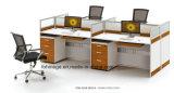 Compartimento moderno da estação de trabalho da pessoa da mobília de escritório 4 para a venda