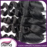 Cabelo 100% natural não processado por atacado do brasileiro do Virgin do cabelo humano