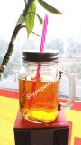 16oz Glass Mason Jar Tea Mug Coffee Mug Beer Mug