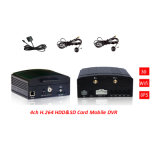 Motion Detection Car Black Box Max 1t HDD&128GB SD Card Car SD Card Mobile DVRの4channel Car Mobile DVR Recorder D1