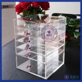 Renivellement de produits de beauté et étalage acryliques de cas de mémoire de bijou