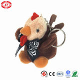 귀여운 채워진 닭 견면 벨벳 연약한 Keychain 수탉 장난감