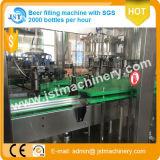 Cadena de producción de relleno del embalaje de la cerveza automática llena