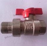 Хозяйственный латунный шариковый клапан с соединением (YD-1004)