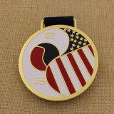 Medalla suave de encargo de Taekwondo del esmalte de 2015 metales