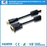 VGA placcato oro al cavo del calcolatore di HDMI