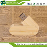 Pluma de madera Drive Rotation 2.0 USB Flash Drive Memory Stick