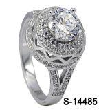 Hotsale 925 Zilveren Micro- Steling Plaatsende Ring met Grote Zircon.