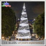 거대한 옥외 8m 광고 방송 LED 나선형 크리스마스 나무 빛
