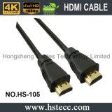 Cor e combinação do conetor do ouro que protegem HDMI Kable