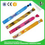 Wristband promocional respetuoso del medio ambiente de la tela del regalo