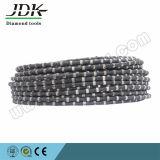 11.5mm 고무 입히는 다이아몬드 철사는 돌 채석장을%s 보고 구체적인 절단을 강화한다