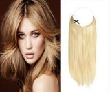 """Fish di un pezzo Line Hair Extension Women Flip in Hair Extensions 15 Colors 18 """" (45cm) nessun Clips Long Straight Synthetic Hair Extension"""