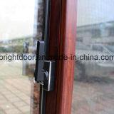 Окно самого последнего алюминия двойной застеклять Metel конструкции дешевого сползая (CL-W1012)