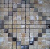Spezieller Entwurfs-natürliches Marmorsteinmosaik für Bauunternehmen-Wand-Fliese (FYSM001)