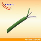 Fio branco verde KX do par termoeléctrico com isolação da resina de silicone