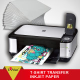 Papel de la inyección de tinta de la transferencia de la camiseta del calor de la sublimación de la inyección de tinta de la camiseta A4