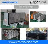 Afficheur LED P5mm imperméable à l'eau extérieur de toit de taxi de la solution 3G/4G