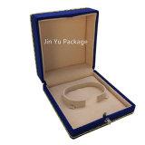 Rectángulo de regalo al por mayor barato de encargo del embalaje de la joyería del terciopelo para el anillo