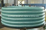 PVCプラスチック緑の鋼線の補強された油圧管のホース