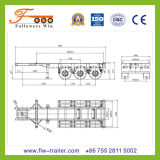 20feet 3axle Skeletal Semi Trailer
