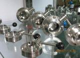 Санитарной клапан-бабочка сваренная нержавеющей сталью