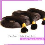 インドの毛の大きさのRelaxer未加工Remyのバージンのインド人の毛