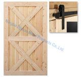Dimon 30 adentro. X 84 adentro. Los paneles interiores rústicos de la puerta de granero del estilo americano (DM-WD 003)