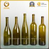 Bouteille d'alcool au verre vert foncé pour le Rhin (064)