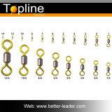 Eslabón giratorio doble de la pesca del eslabón giratorio del balanceo del color