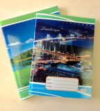Libro de ejercicio barato de encargo del estudiante del cuaderno del papel del Hardcover de la escuela de la impresión del papel