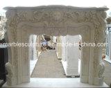 Cheminée de marbre de fleur (SY-MF105)