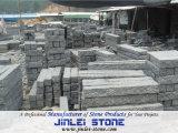 Pedra de resguardo cinzenta da pedra de pavimentação do sésamo escuro do granito G654