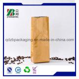 Пластичный мешок застежки -молнии упаковки еды кофеего с клапаном