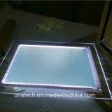 Крыто на коробке стола кристаллический акриловой рекламируя СИД светлой